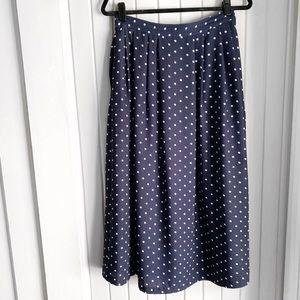 VTG 90s Blue Polka Dot Skirt